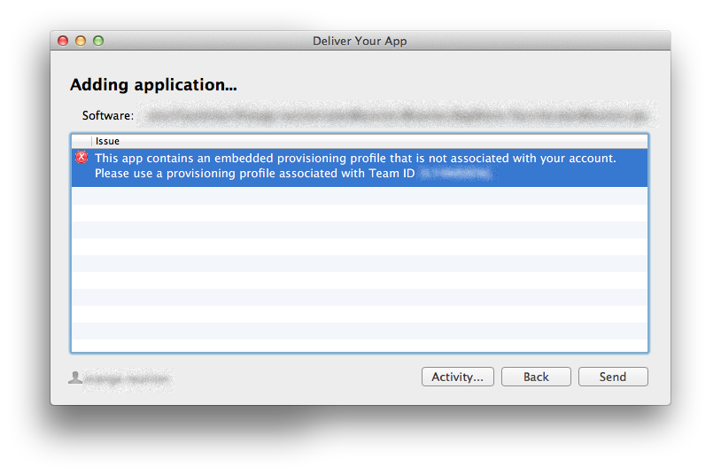 """XCode submission error"""